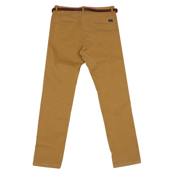 Scotch & Soda Mens Brown Chino In Stretch Cotton