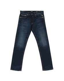Replay Mens Blue Grover Straight Fit Jean