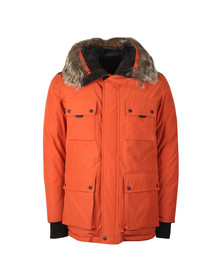 Belstaff Mens Orange Expedition Parka With Fur