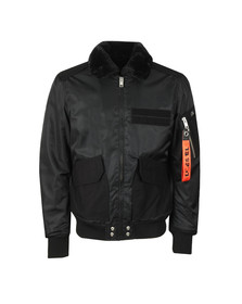 Diesel Mens Black W-Slotkin Jacket