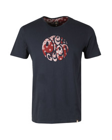 Pretty Green Mens Blue S/S Bandana Print Tee