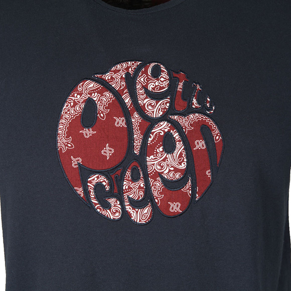 Pretty Green Mens Blue S/S Bandana Print Tee main image
