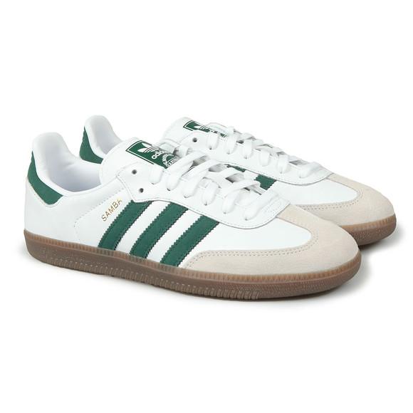 Adidas Originals Mens White Samba Leather Trainer main image