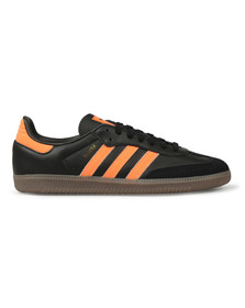 Adidas Originals Mens Black Samba Leather Trainer