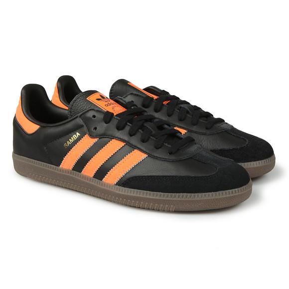 Adidas Originals Mens Black Samba Leather Trainer main image