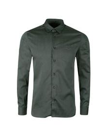 Ted Baker Mens Green Skwere L/S Contrast Pocket Shirt