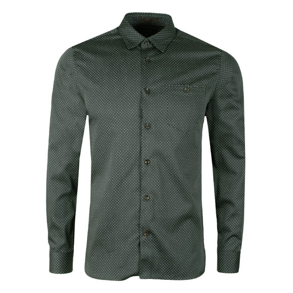 Ted Baker Mens Green Skwere L/S Contrast Pocket Shirt main image