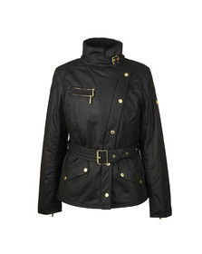 Barbour International Womens Black Wheelstand Wax Jacket