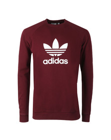 adidas Originals Mens Red Trefoil Crew Sweat