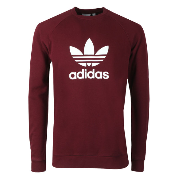 adidas Originals Mens Red Trefoil Crew Sweat main image