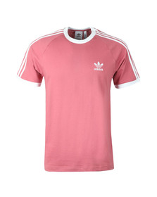 adidas Originals Mens Pink 3 Stripes Tee