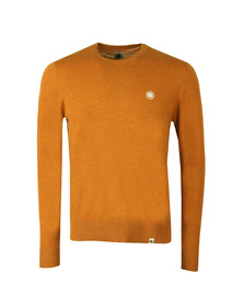 Pretty Green Mens Orange Crew Neck Knitted Jumper