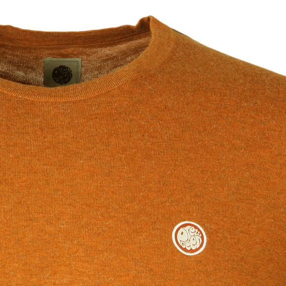 Pretty Green Mens Orange Crew Neck Knitted Jumper main image