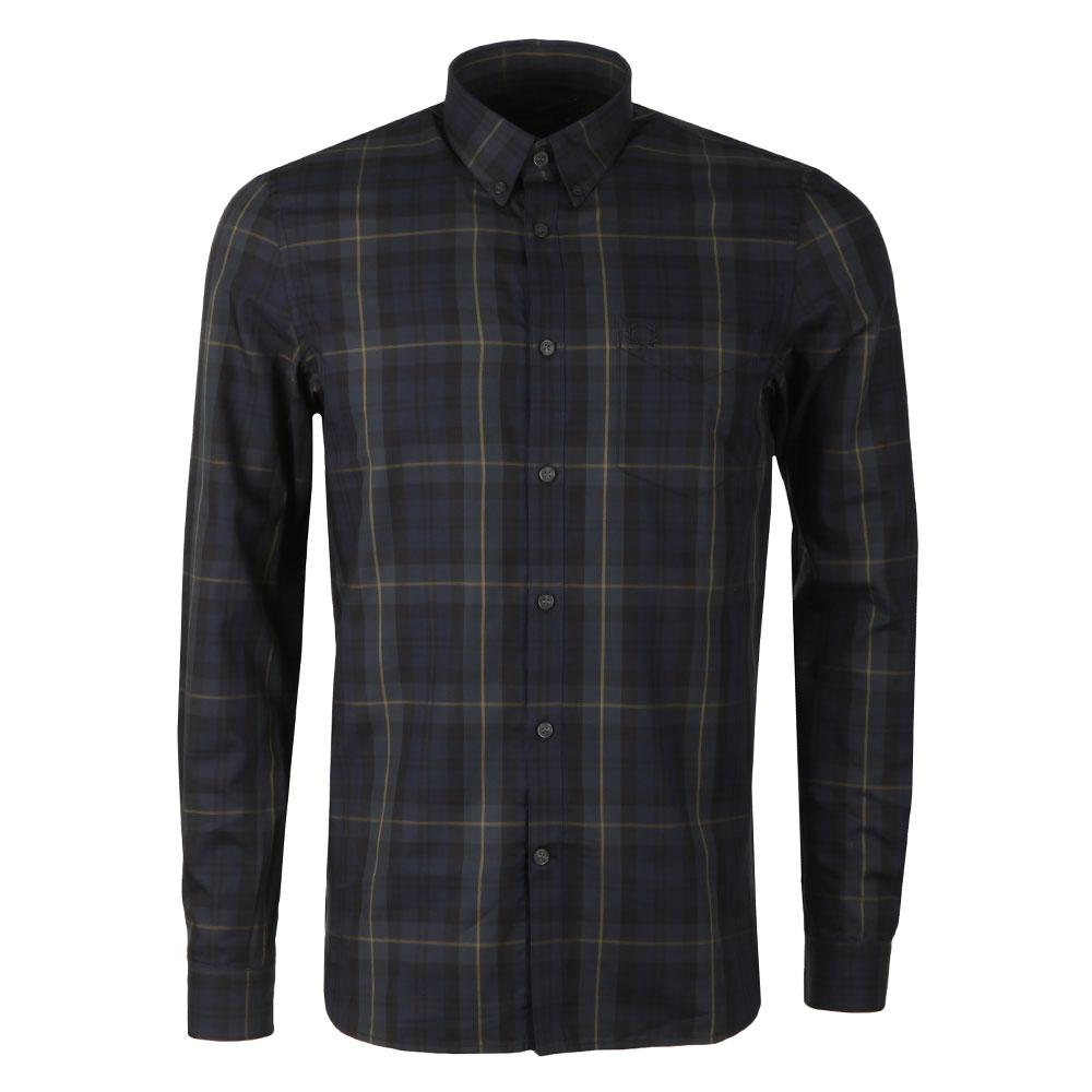 Contrast Stripe Tartan Shirt main image