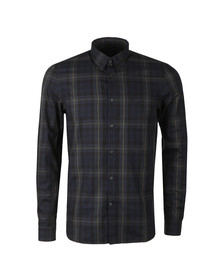 Fred Perry Mens Blue Contrast Stripe Tartan Shirt