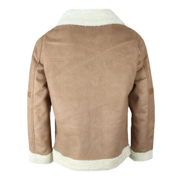 4BIDDEN Mens Brown Pilot Jacket main image