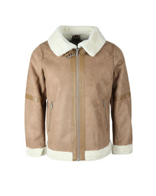 4BIDDEN Mens Brown Pilot Jacket