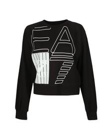 EA7 Emporio Armani Womens Black Large Logo Sweatshirt