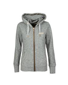 Superdry Womens Grey Orange Label Elite Zip Hoody