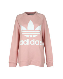 Adidas Originals Womens Pink Oversized Sweat