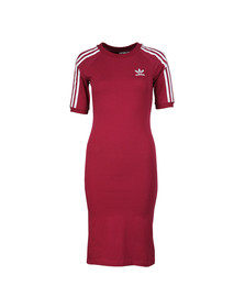 Adidas Originals Womens Red 3 Stripes Dress