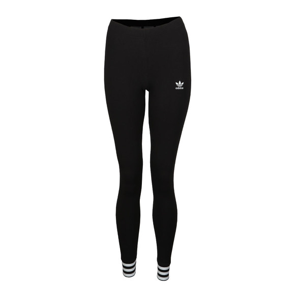 Adidas Originals Womens Black Cuffed Tight Leggings main image