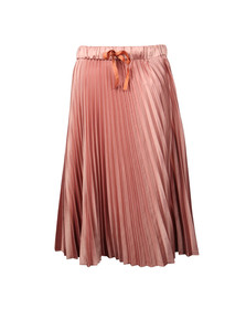 Maison Scotch Womens Pink Silky Pleated Skirt