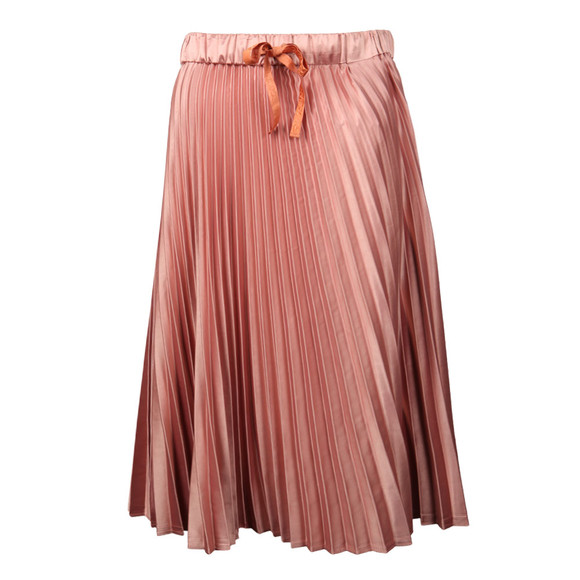 Maison Scotch Womens Pink Silky Pleated Skirt main image