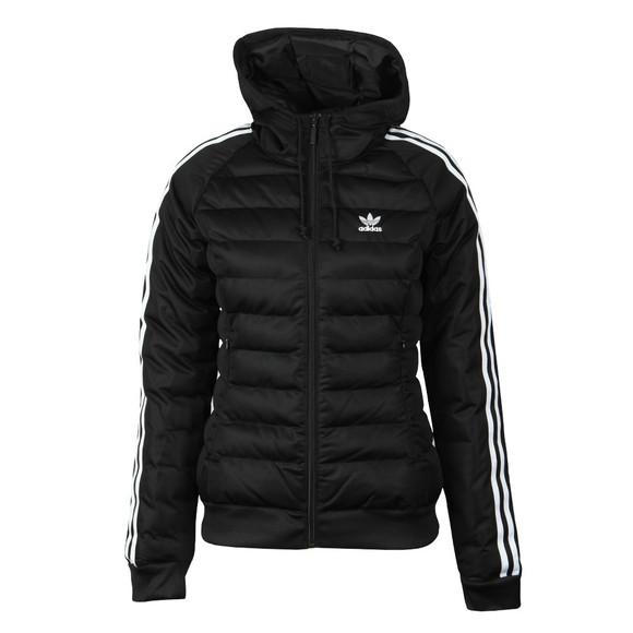 adidas Originals Womens Black Slim Puffer Jacket main image