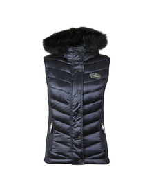 Superdry Womens Blue Luxe Chevron Double Zip Vest