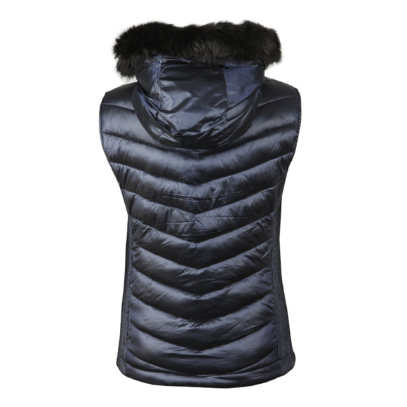 Superdry Womens Blue Luxe Chevron Double Zip Vest main image