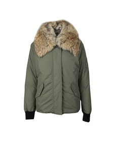 Belstaff Womens Green Barnsdale With Fur Parka