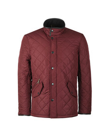 Barbour Lifestyle Mens Red Powell Quilted Jacket