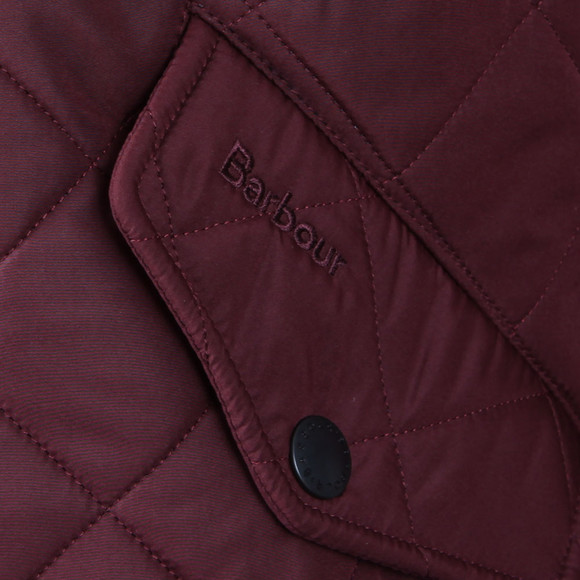 Barbour Lifestyle Mens Red Powell Quilted Jacket main image
