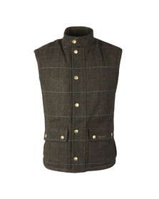 Barbour Lifestyle Mens Green Lowerdale Wool Gilet