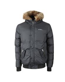 4BIDDEN Mens Grey Alder Jacket