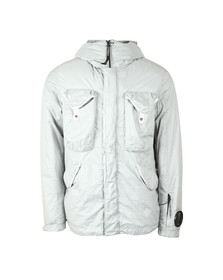 C.P. Company Mens Off-White Nyfoil Mid Length Goggle Jacket