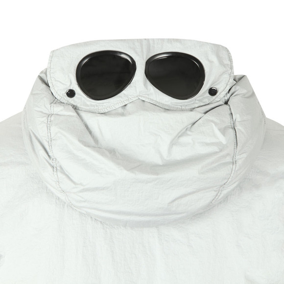 C.P. Company Mens Off-White Nyfoil Mid Length Goggle Jacket main image