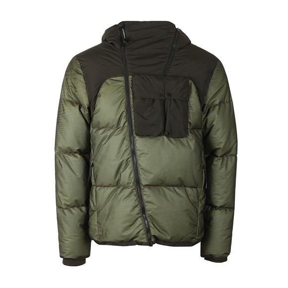 C.P. Company Mens Green 2 Tone Goggle Jacket main image