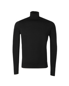 John Smedley Mens Black Cherwell Roll Neck Jumper