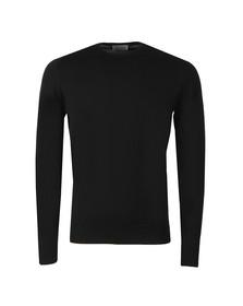 John Smedley Mens Black Farhill Crew Neck Pullover