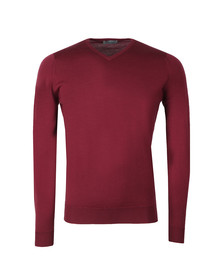John Smedley Mens Purple Shipton V Neck Pullover