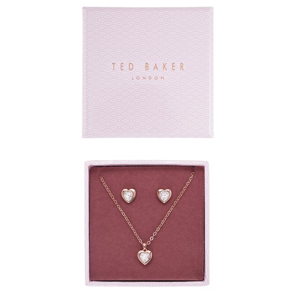 Rose Gold Hadeya Crystal Heart Gift Set main image