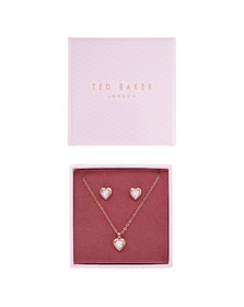 Ted Baker Womens Pink Rose Gold Hadeya Crystal Heart Gift Set