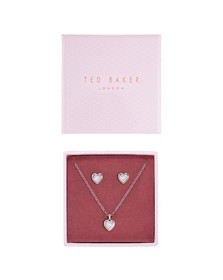 Ted Baker Womens Silver Hadeya Crystal Heart Gift Set