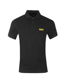 Barbour International Mens Black Essential Polo Shirt