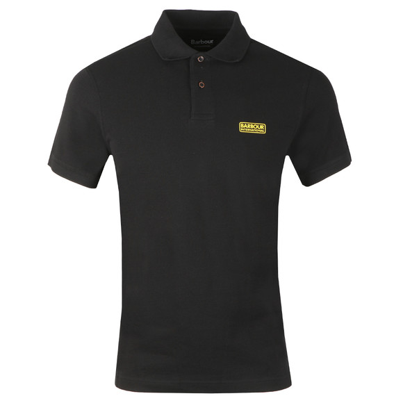 Barbour International Mens Black Essential Polo Shirt main image