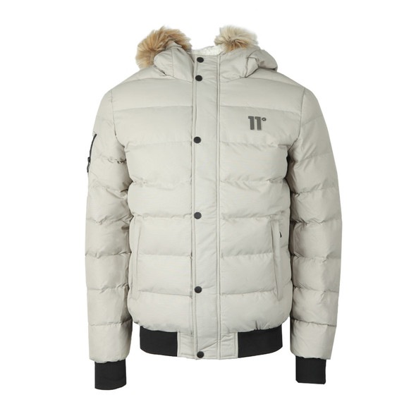 Eleven Degrees Mens Beige Missile Jacket main image