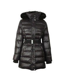 Ugg Womens Black Valerie Belted Down Coat