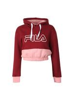 Dora Iridescent & Fleece Mix Crop Hoody